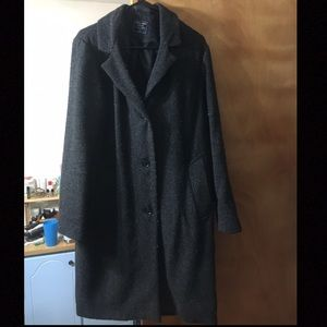 Abercrombie & Fitch Long Wool Cloat